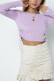 Pretty Little Things Cinch Side Sweater - Front cropped