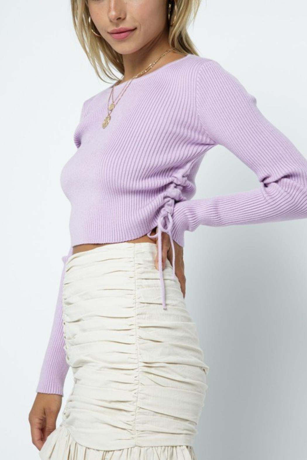 Pretty Little Things Cinch Side Sweater - Front Full Image