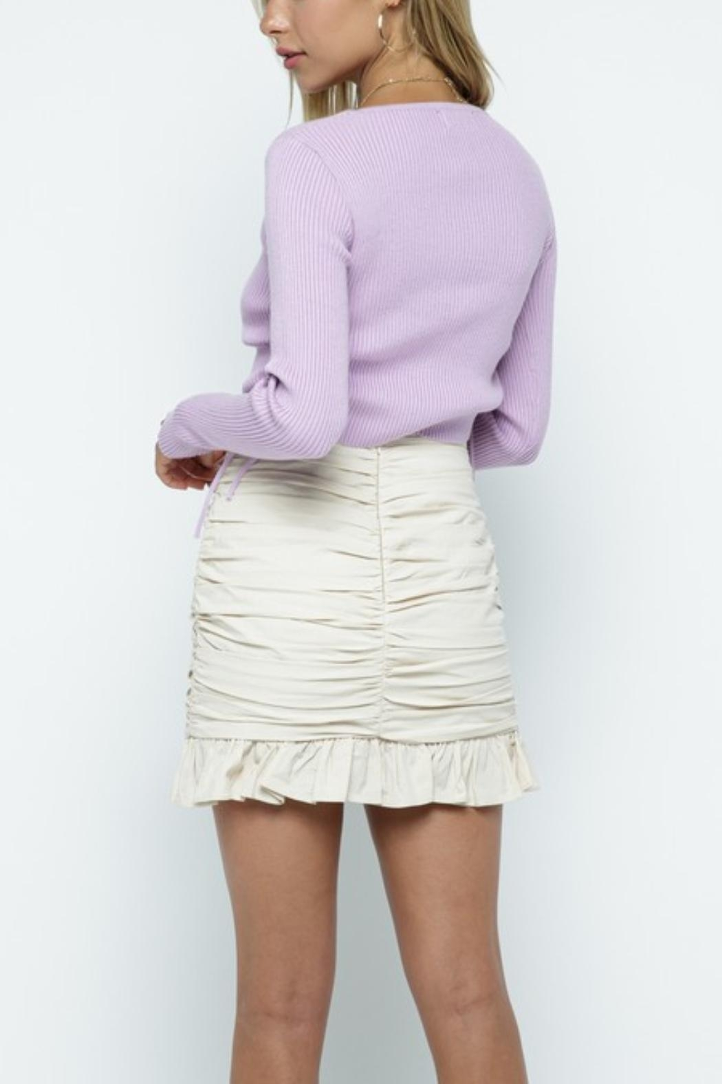 Pretty Little Things Cinch Side Sweater - Side Cropped Image