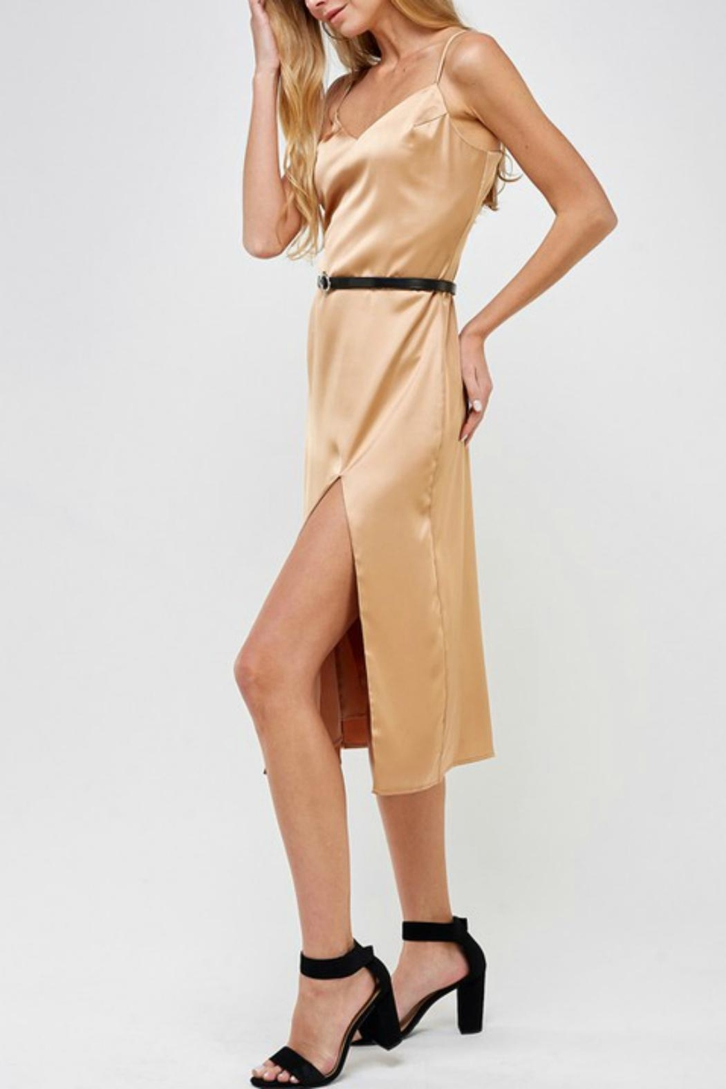 Pretty Little Things Classic Satin Dress - Front Full Image
