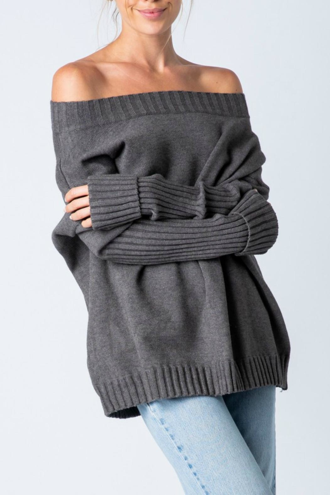 Pretty Little Things Cold Shoulder Sweater - Main Image