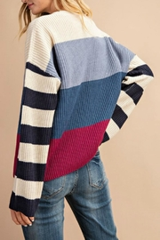 Pretty Little Things Colorblock Pullover Sweater - Front full body