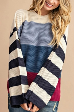 Pretty Little Things Colorblock Pullover Sweater - Product List Image