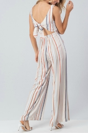 Pretty Little Things Colorblock Stripe Jumpsuit - Front full body