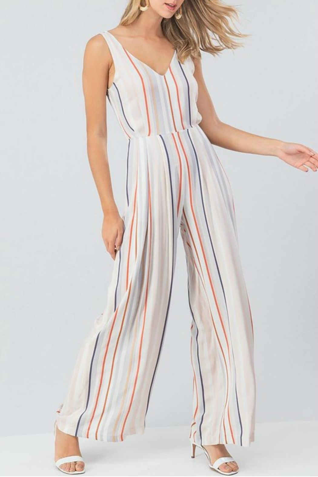 Pretty Little Things Colorblock Stripe Jumpsuit - Main Image