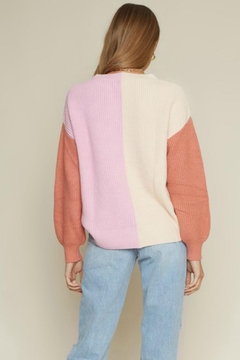 Pretty Little Things Colorblock Sweater - Alternate List Image