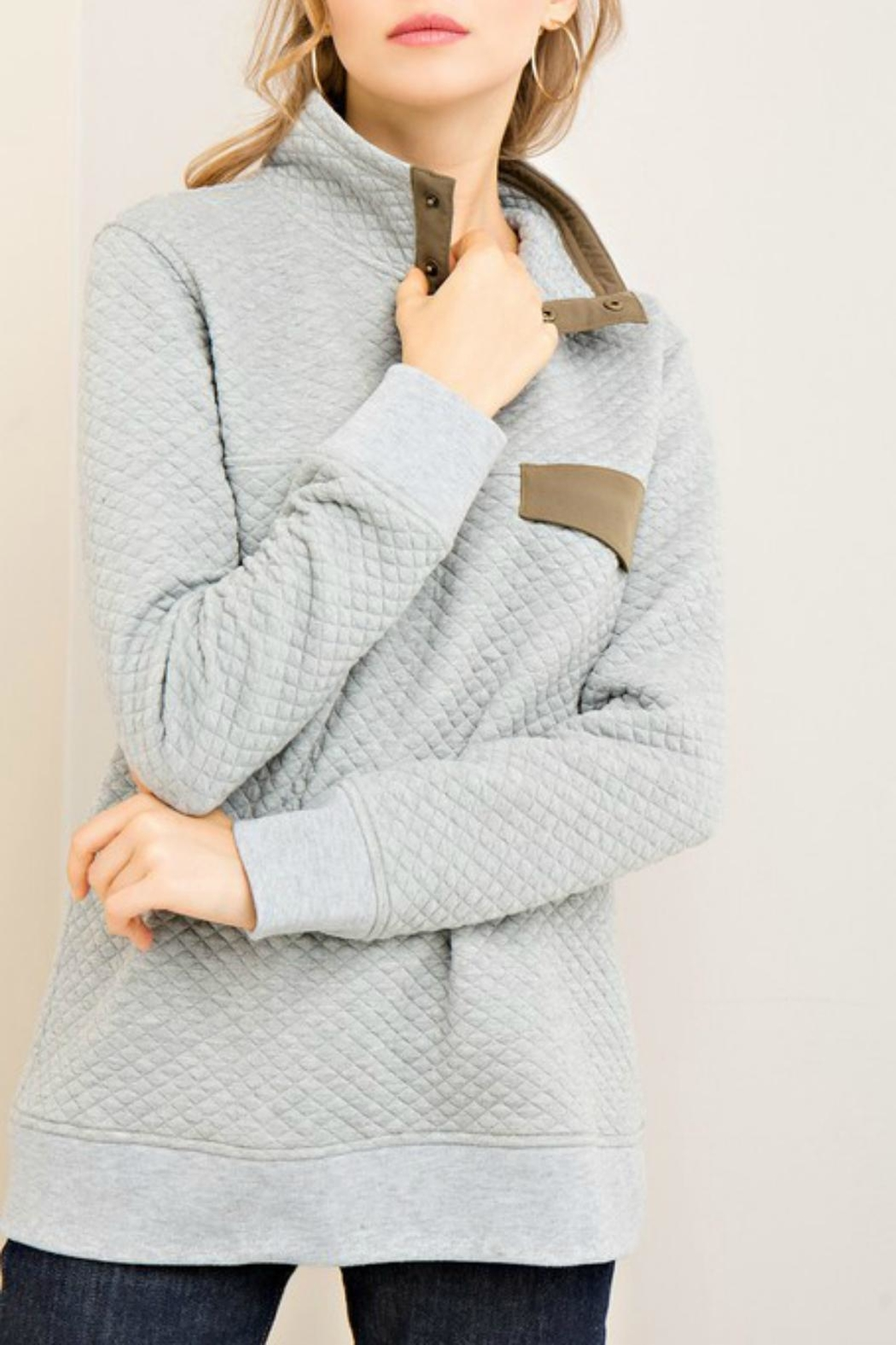 Pretty Little Things Contrast Collar Pullover - Main Image