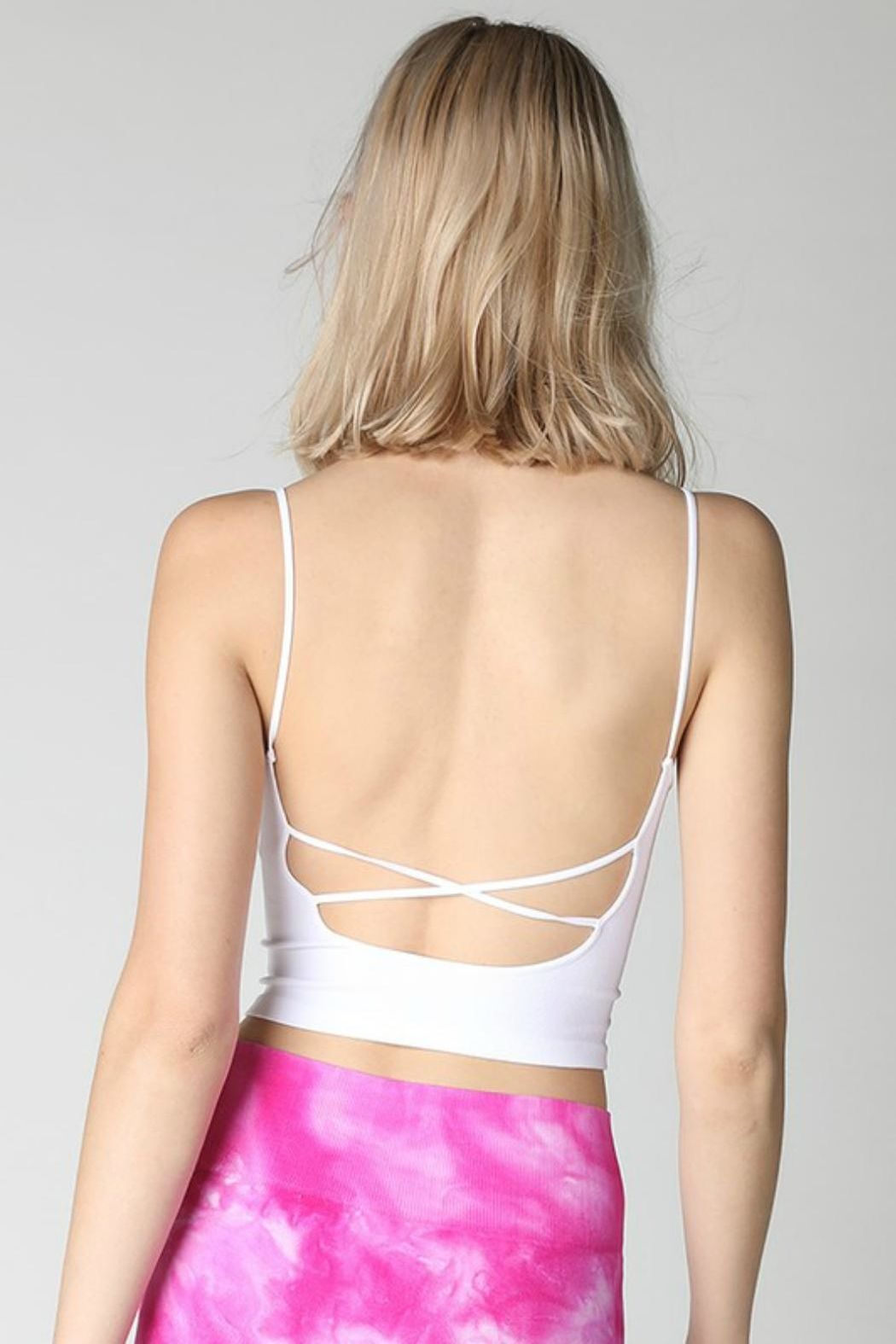 Pretty Little Things Criss-Cross Seamless Top - Front Full Image