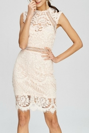 Pretty Little Things Crochet Lace Dress - Front cropped
