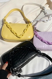 Pretty Little Things Croco Chain Bag - Front full body