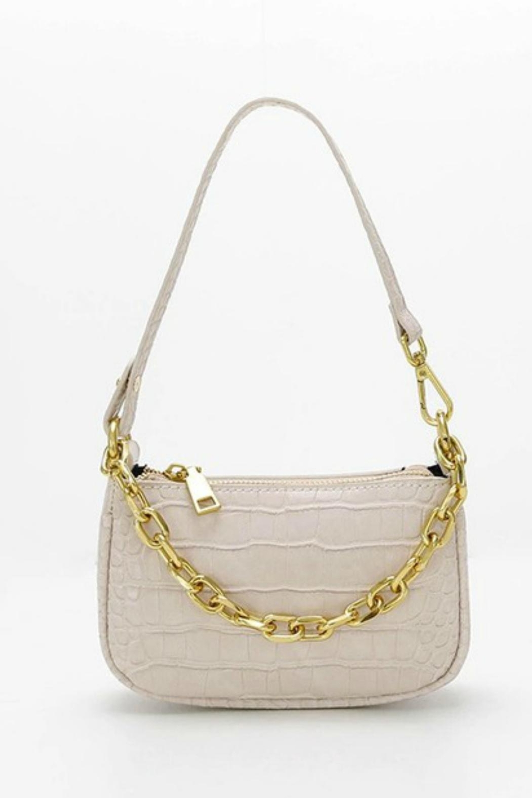 Pretty Little Things Croco Chain Bag - Side Cropped Image