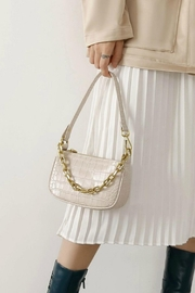 Pretty Little Things Croco Chain Bag - Product Mini Image
