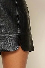 Pretty Little Things Crocodile Leather Skirt - Front full body