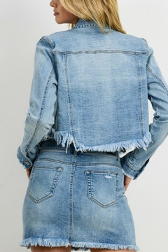 Pretty Little Things Cropped Denim Jacket - Alternate List Image