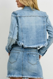 Pretty Little Things Cropped Denim Jacket - Back cropped