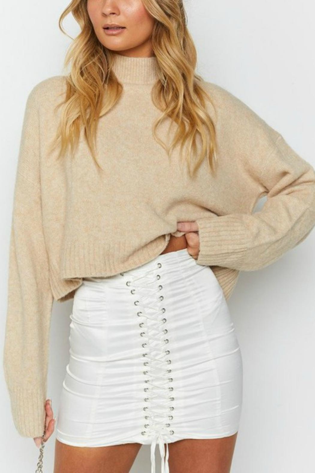 Pretty Little Things Cropped Sweater - Main Image