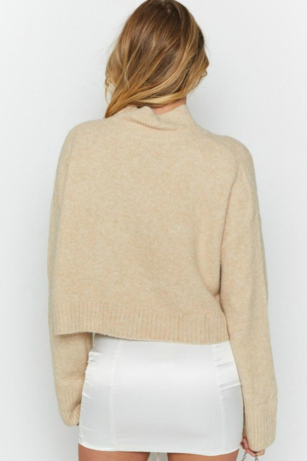 Pretty Little Things Cropped Sweater - Front Full Image