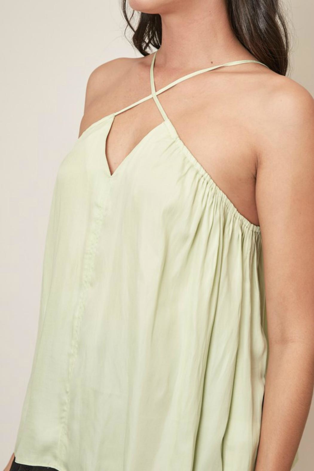 Pretty Little Things Cross Halter Top - Side Cropped Image
