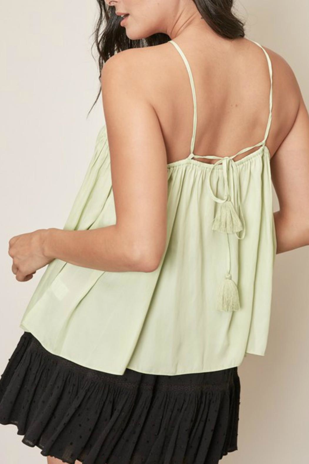 Pretty Little Things Cross Halter Top - Front Full Image