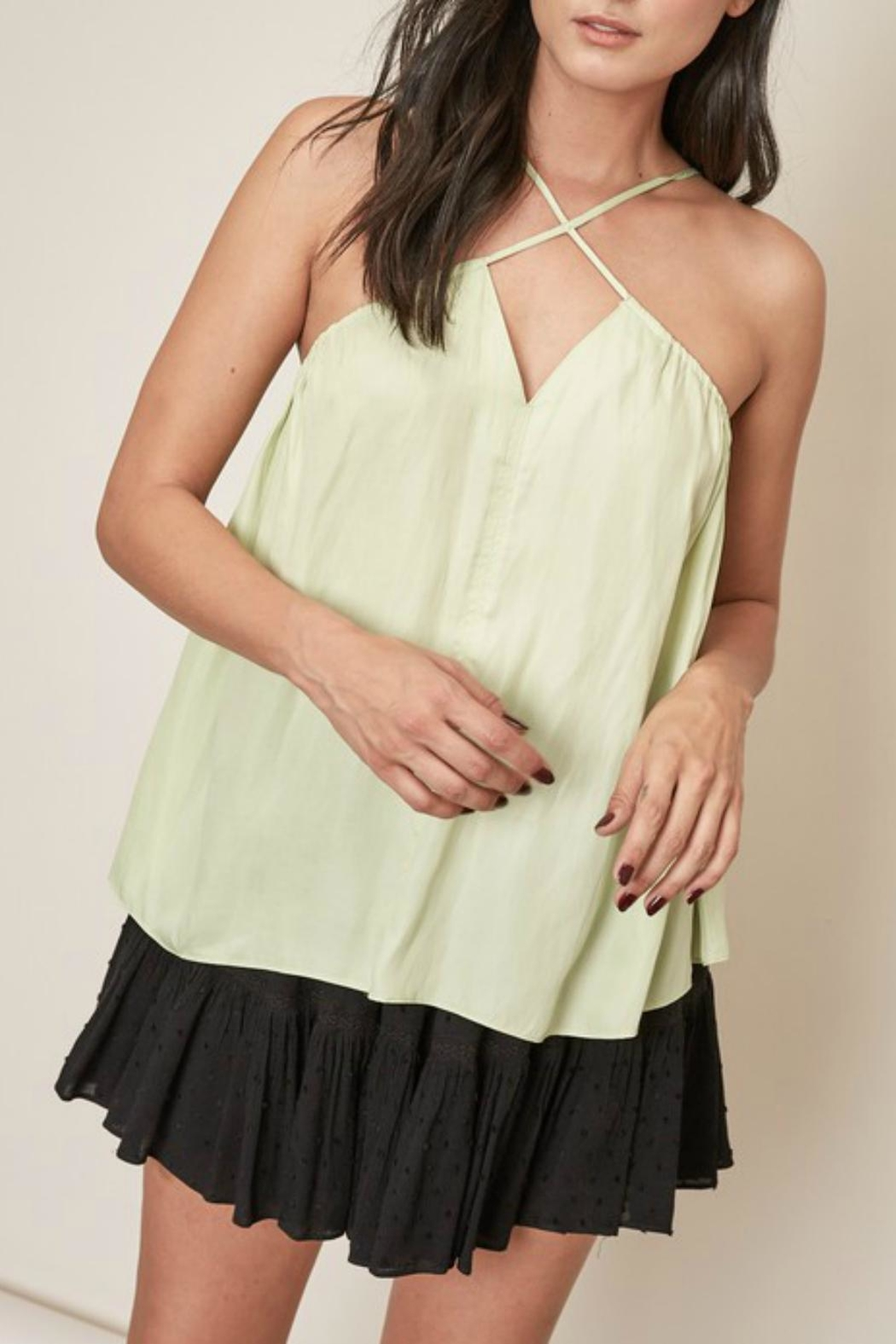 Pretty Little Things Cross Halter Top - Main Image