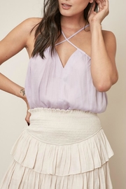 Pretty Little Things Cross Halter Top - Front cropped