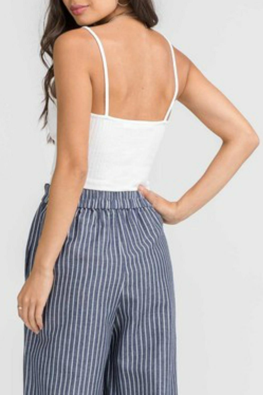 Pretty Little Things Crossover Crop Top - Front Full Image