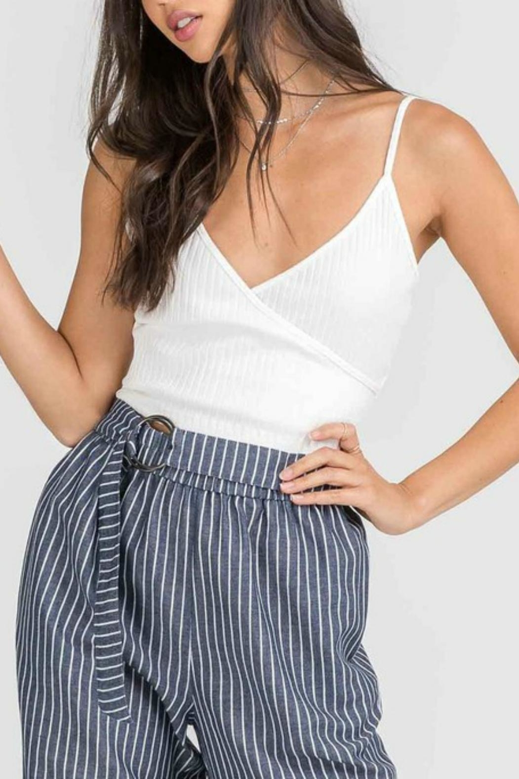 Pretty Little Things Crossover Crop Top - Main Image