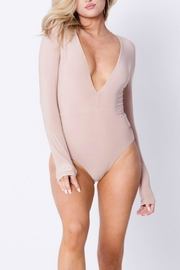 Pretty Little Things Deep V Bodysuit - Front cropped