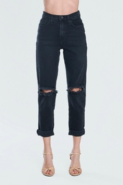 Pretty Little Things Distressed Mom Jeans - Front cropped