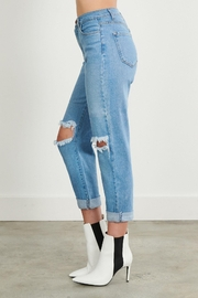 Pretty Little Things Distressed Mom Jeans - Front full body