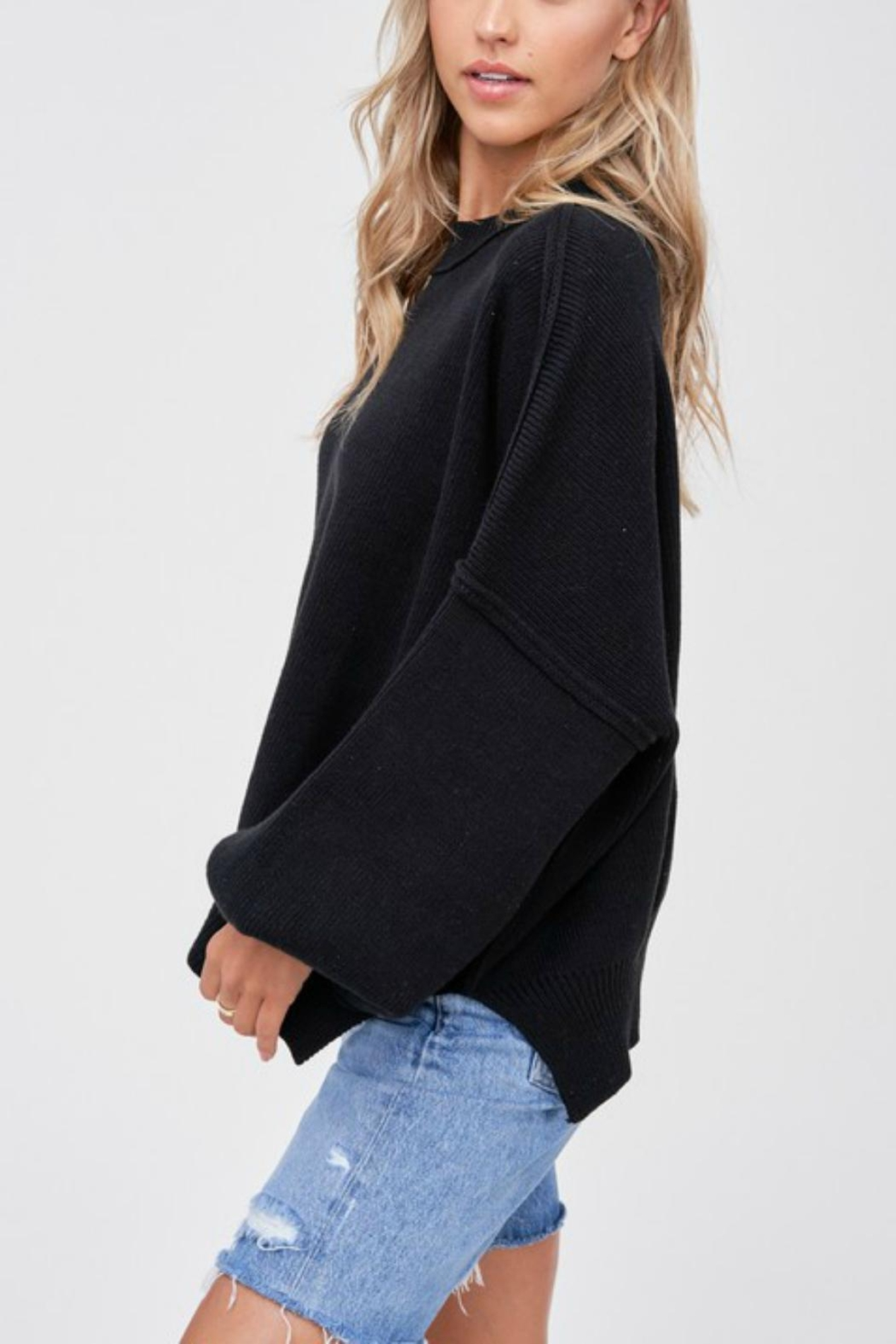 Pretty Little Things Exposed Seam Sweater - Front Full Image