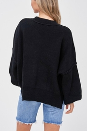 Pretty Little Things Exposed Seam Sweater - Side cropped
