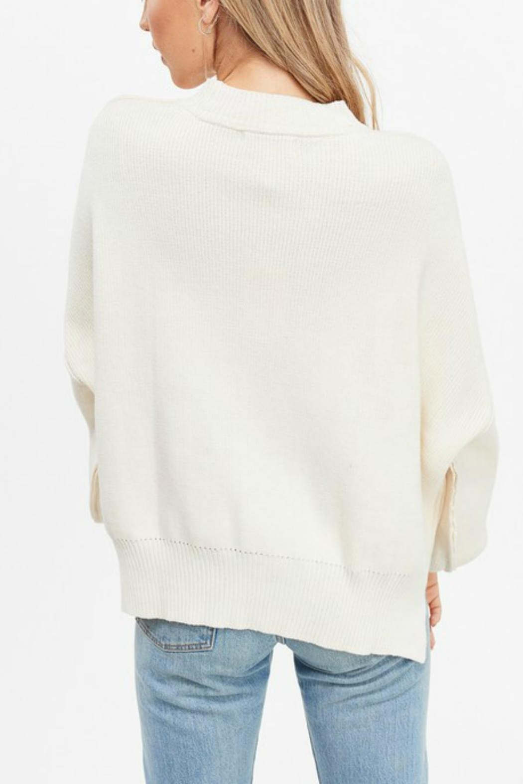 Pretty Little Things Exposed Seam Sweater - Side Cropped Image