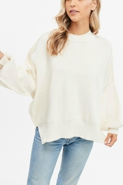 Pretty Little Things Exposed Seam Sweater - Product Mini Image
