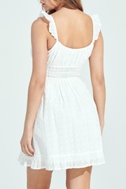 Pretty Little Things Eyelet Milkmaid Dress - Front full body