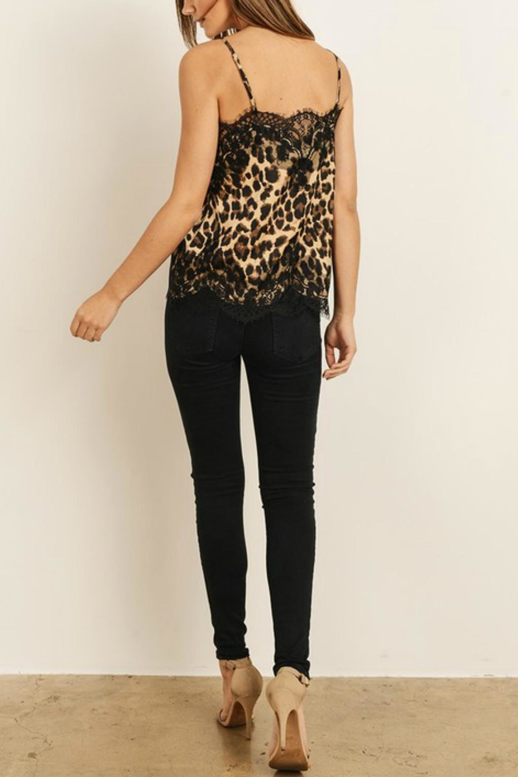 Pretty Little Things Feline Cami Top - Front Full Image