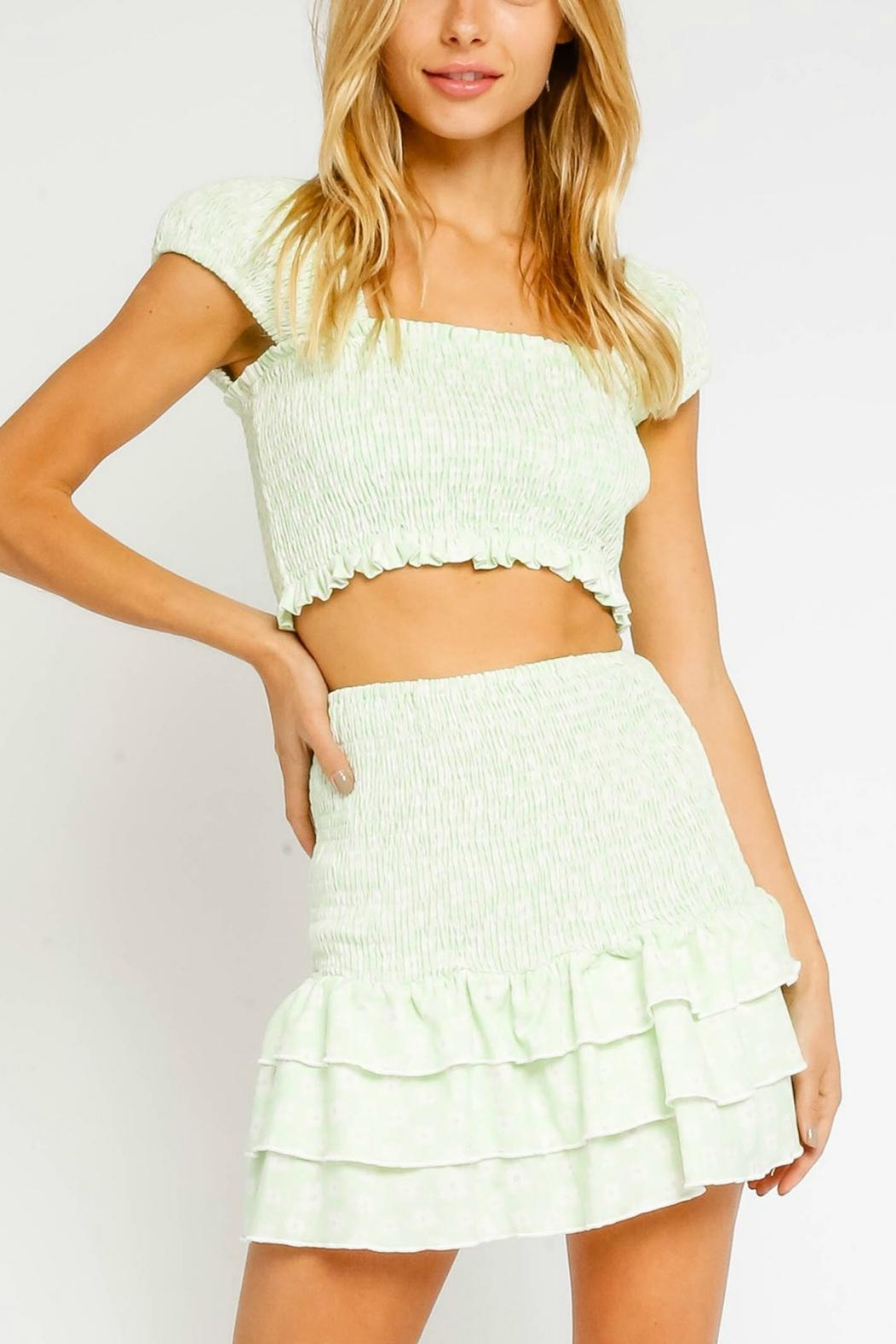 Pretty Little Things Floral Crop Top - Main Image