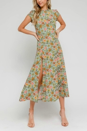 Pretty Little Things Floral Midi Dress - Front full body