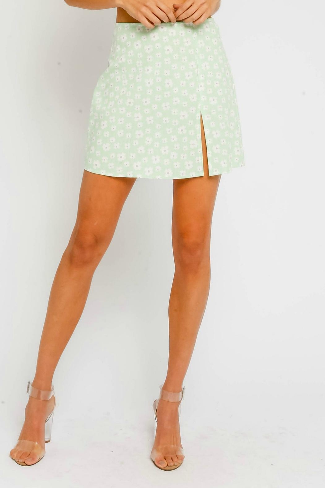 Pretty Little Things Floral Mini Skirt - Main Image