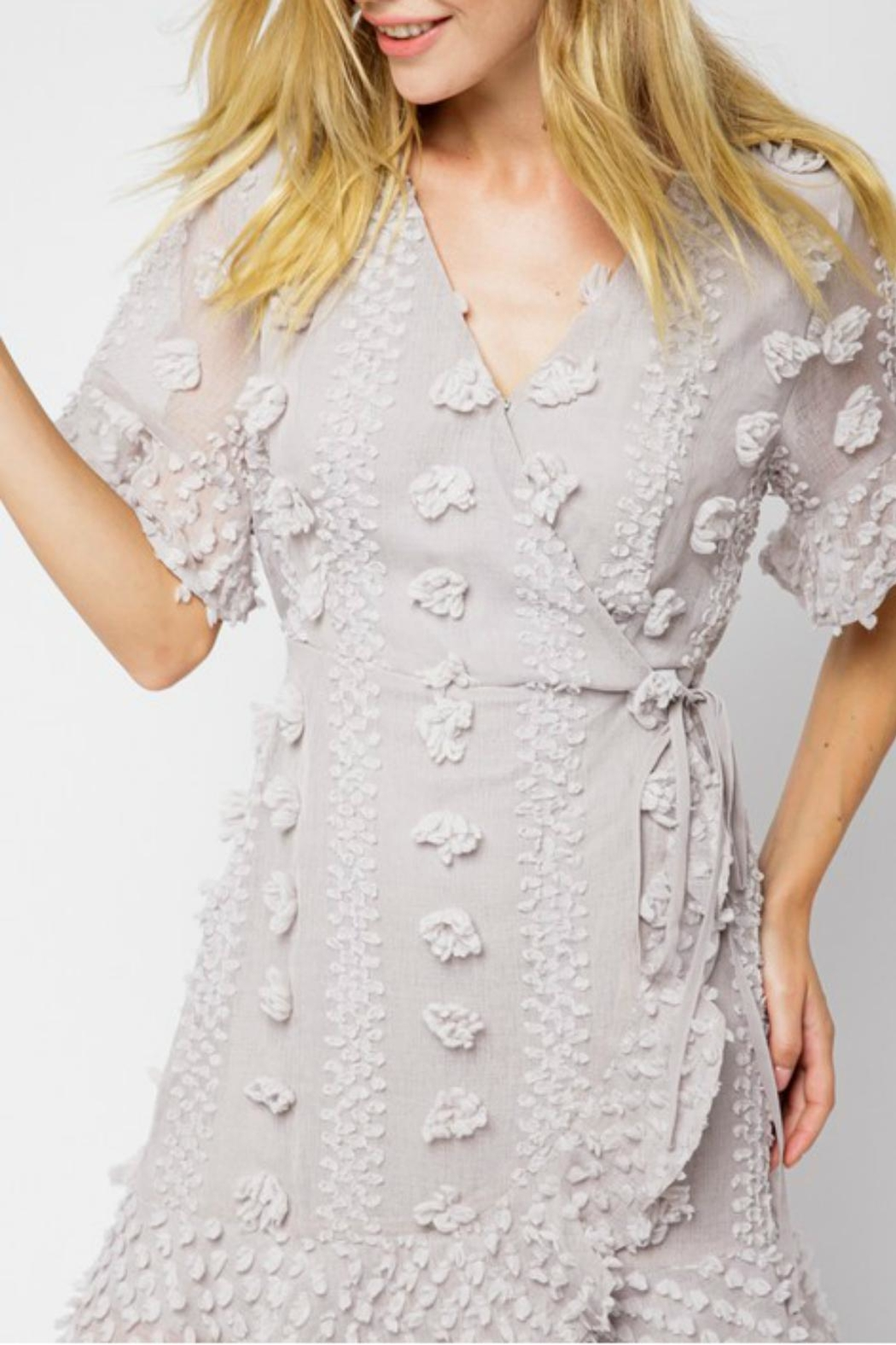 Pretty Little Things Floral Pom-Pom Dress - Front Full Image