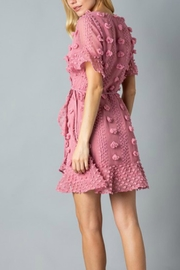 Pretty Little Things Floral Pom-Pom Dress - Front full body