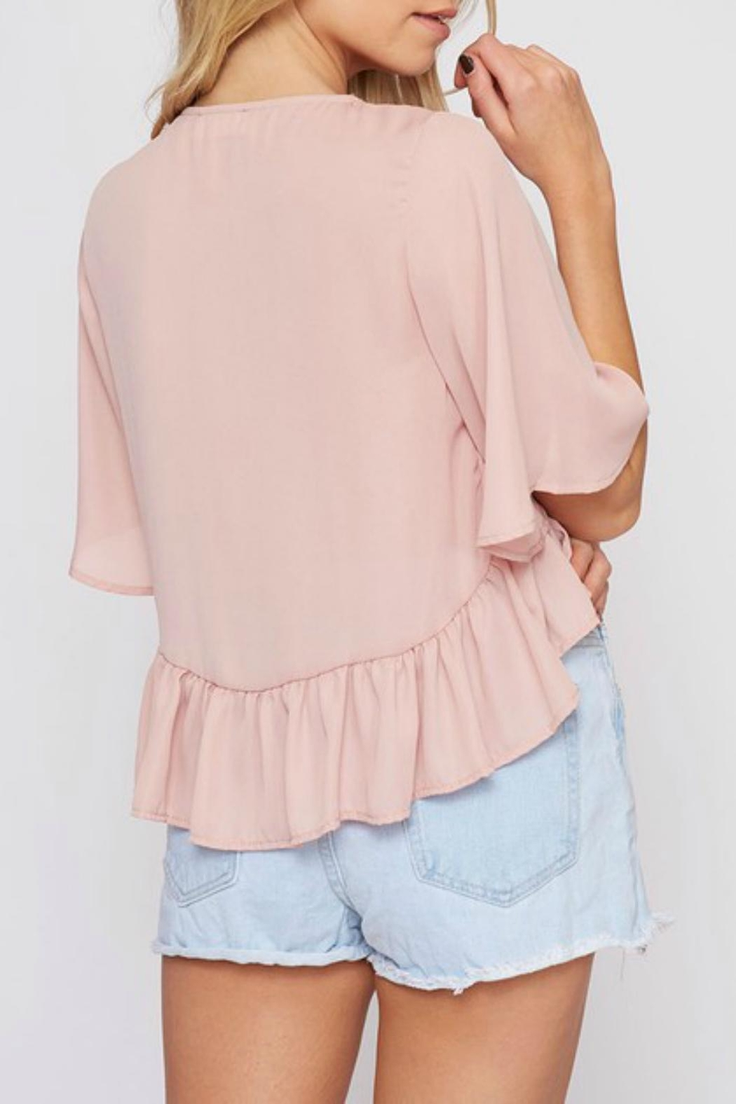 Pretty Little Things Flyaway Tie Top - Front Full Image