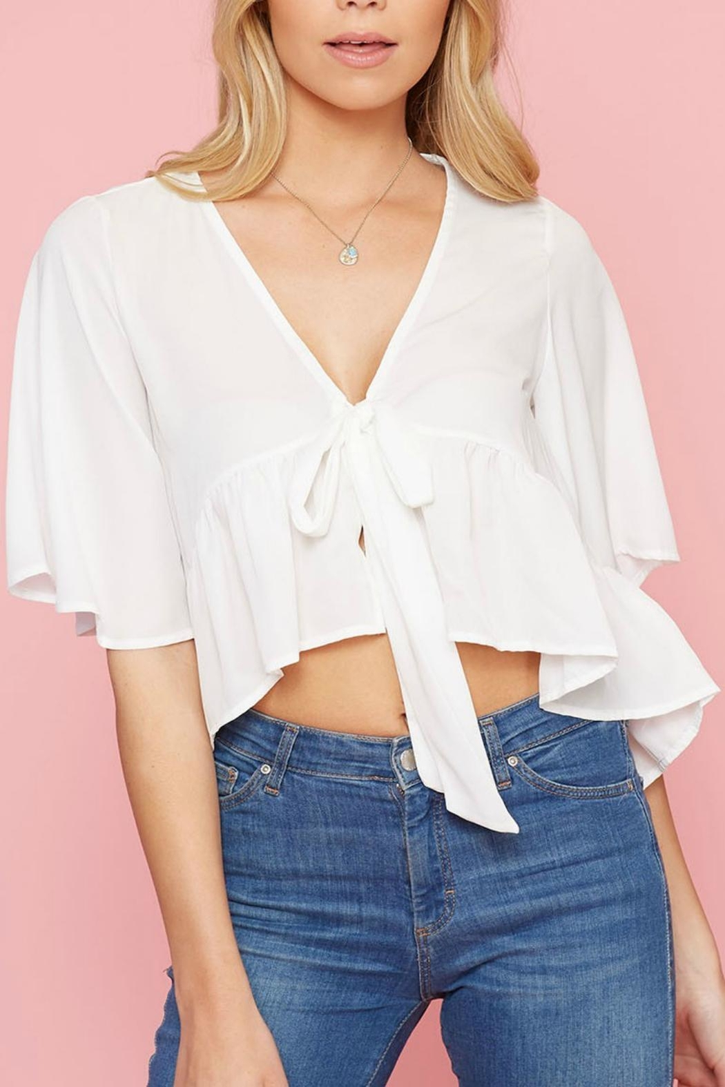 Pretty Little Things Flyaway Tie Top - Main Image