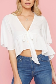 Pretty Little Things Flyaway Tie Top - Front cropped