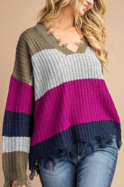 Pretty Little Things Frayed Hem Sweater - Product Mini Image