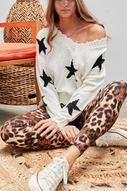 Pretty Little Things Frayed Star Sweater - Front full body