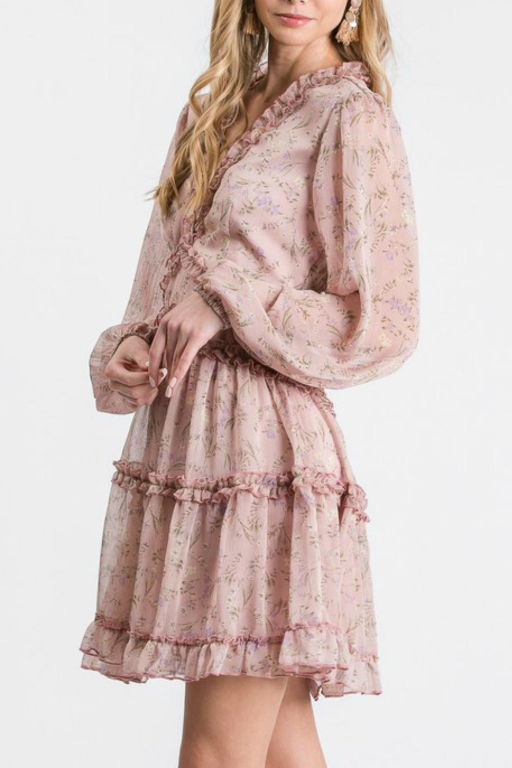 Pretty Little Things Frill Babydoll Dress - Front Full Image