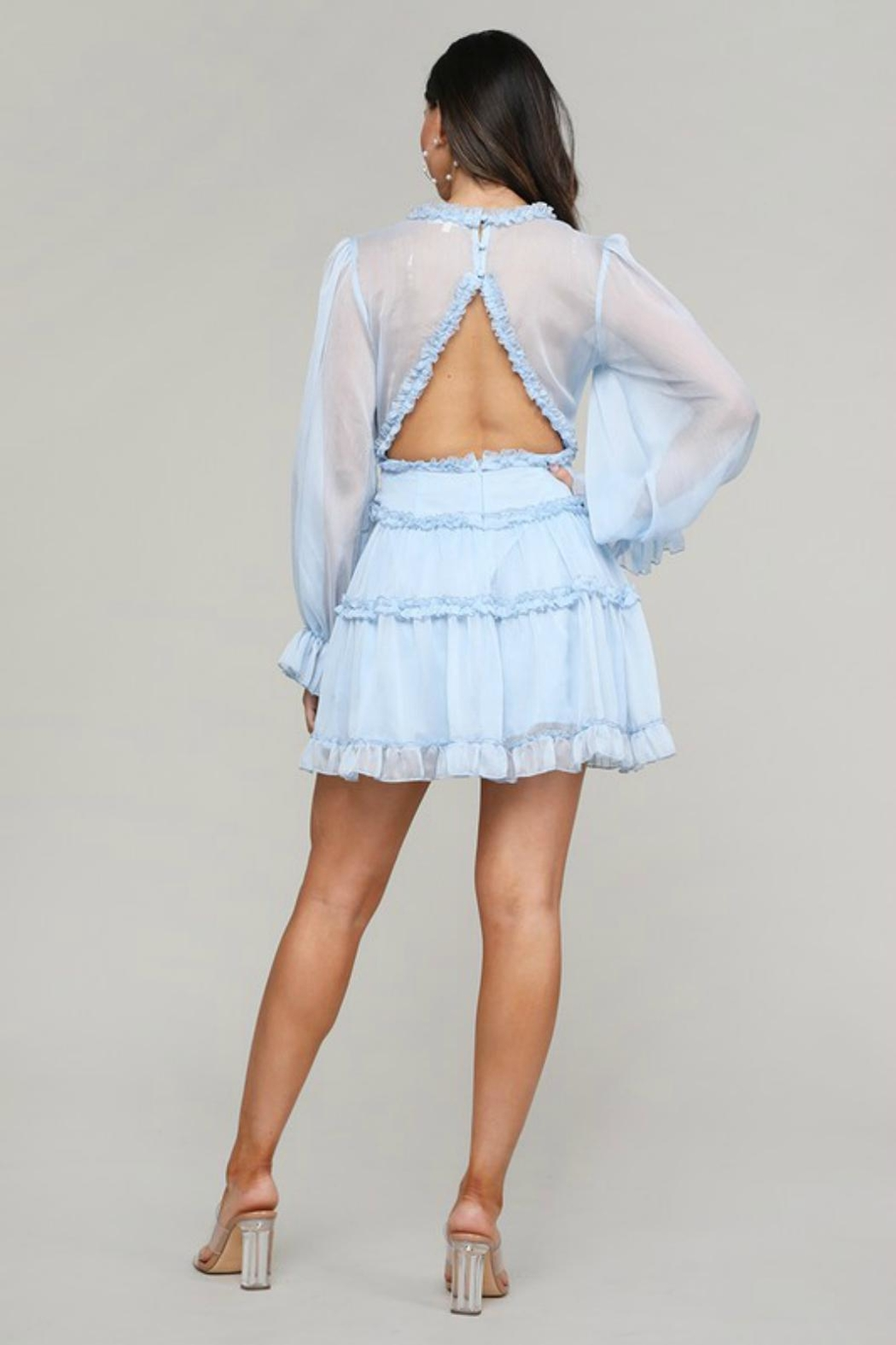 Pretty Little Things Frill Babydoll Dress - Side Cropped Image