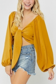 Pretty Little Things Front Tie Shirt - Front cropped