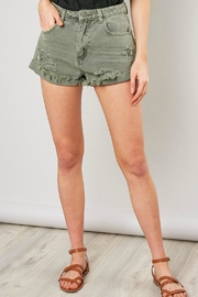 Pretty Little Things Girlfriend Denim Shorts - Front cropped